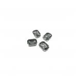 14x10mm pilkos sp. kristalai sidabro sp. rėmeliuose, 4vnt.
