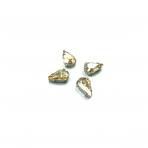 13x8mm šviesios dūminės sp. kristalai sidabro sp. rėmeliuose, 6vnt.