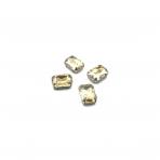 14x10mm šviesios dūminės sp. kristalai sidabro sp. rėmeliuose, 4vnt.