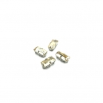 10x5mm šviesios dūminės sp. kristalai sidabro sp. rėmeliuose, 4vnt.