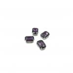 14x10mm violetinės sp. kristalai sidabro sp. rėmeliuose, 4vnt.
