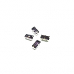 10x5mm violetinės sp. kristalai sidabro sp. rėmeliuose, 4vnt.