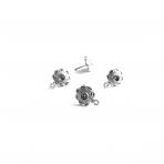14x11mm sidabro sp. auskarų įvėrimai, 4vnt.