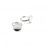 15mm sidabro sp. žiedo pagrindas, 4vnt.