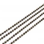 1,5x1,5mm rudos sp. grandinėlė, 1m.