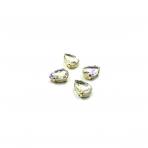14x10mm crystal AB sp. kristalai aukso sp. rėmeliuose, 4vnt.