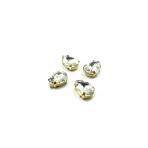 14x10mm crystal sp. kristalai aukso sp. rėmeliuose, 4vnt.