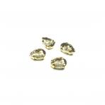 14x10mm dūminės sp. kristalai aukso sp. rėmeliuose, 4vnt.