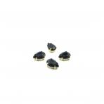 14x10mm juodos sp. kristalai aukso sp. rėmeliuose, 4vnt.