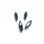 15x4mm juodos sp. kristalai sidabro sp. rėmeliuose, 4vnt