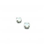 10mm mėnulio sp. apvalūs kristalai sidabro sp. rėmeliuose, 2vnt.