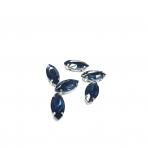 15x7mm indigo sp. kristalai sidabro sp. rėmeliuose, 6vnt
