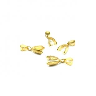 15x5mm aukso sp. pakabukų laikiklis, 10vnt.