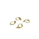 16x10mm aukso sp. auskarų įvėrimai, 20vnt.