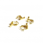 16x12mm aukso sp. auskarų įvėrimai klipsai, 4vnt.