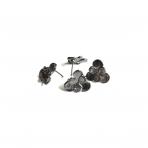 16x16mm juodintos sp. auskarų įvėrimai, 4vnt.