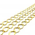 18x15mm aukso sp. grandinėlė, 1m