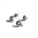 17x13mm sidabro sp. auskarų įvėrimai, 4vnt.