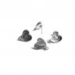 17x16mm sidabro sp. auskarų įvėrimai, 4vnt.