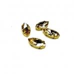 15x4mm šviesios dūminės sp. kristalai aukso sp. rėmeliuose, 4vnt
