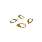 18x11mm aukso sp. auskarų įvėrimai, 20vnt.