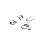 18x12mm sidabro sp. auskarų įvėrimai, 10vnt.