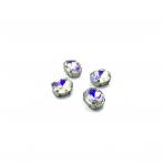 10x8mm crystal AB sp. kristalai sidabro sp. rėmeliuose, 6vnt.