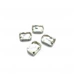 18x13mm crystal sp. kristalai sidabro sp. rėmeliuose, 4vnt.