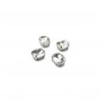 10x8mm crystal sp. kristalai sidabro sp. rėmeliuose, 6vnt.
