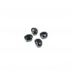 10x8mm juodos sp. kristalai sidabro sp. rėmeliuose, 6vnt.