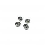 10x8mm pilkos sp. kristalai sidabro sp. rėmeliuose, 6vnt.