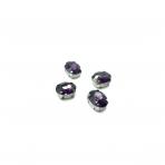 10x8mm violetinės sp. kristalai sidabro sp. rėmeliuose, 6vnt.