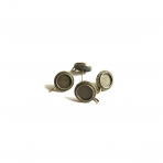 18x14mm žalvario sp. auskarų įvėrimai, 4vnt.