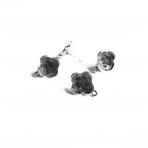 19x16mm sidabro sp. auskarų įvėrimai, 4vnt.