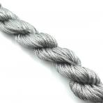 1mm shamballa virvelė, pilkos sp. iki 25m