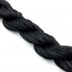 1mm shamballa virvelė, juodos sp. iki 25m