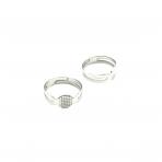 7mm sidabro sp. žiedo pagrindas, 4vnt.