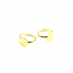 12mm aukso sp. žiedo pagrindas, 4vnt.