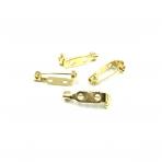 21x5mm aukso sp. sagių užsegimai, 10vnt.