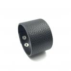 210x42mm juodos sp. odinės apyrankės ruošinys, sidabro sp. užsegimu