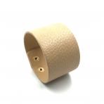 210x42mm smėlinės sp. odinės apyrankės ruošinys, aukso sp. užsegimu