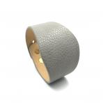 220x50mm pilkos sp. odinės apyrankės ruošinys, aukso sp. užsegimu