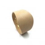 220x50mm smėlinės sp. odinės apyrankės ruošinys, aukso sp. užsegimu