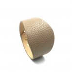 220x50mm šviesiai rudos sp. odinės apyrankės ruošinys, aukso sp. užsegimu