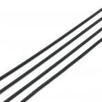 1,25x1,25mm juodos sp. grandinėlė, 1m