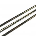 2,25x2,25mm juodos sp. grandinėlė, 1m.