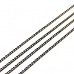 1,8x1,15mm juodos sp. grandinėlė, 1m