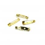25x5mm aukso sp. sagių užsegimai, 10vnt.