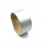 210x33mm sidabro sp. odinės apyrankės ruošinys, aukso sp. užsegimu