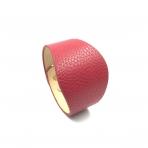 230x52mm raudonos sp. odinės apyrankės ruošinys, aukso sp. užsegimu